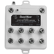 Channel Master 3418 8 way distribution amp with return path