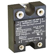 NCC SNC-R2025-501 Solid state relay 70-140 VAC in 48-300 VAC out @ 25A