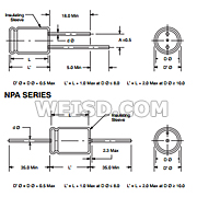 Axial Lead 220/Μf Capacitance 25V Inc. NTE Electronics NPA220M25 Series Npa Aluminum Non Polarized Electrolytic Capacitor 20/% Capacitance Tolerance