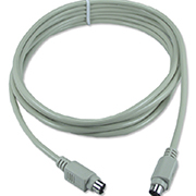 QVS CC389-15SNU 15ft Mini6 Male to Male PS/2 Keyboard/Mouse Cable...