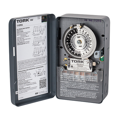Tork 1109A 120-277V DPST 40A 24 hour time switch